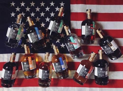 Lyon Distilling Company American Rum & Whiskey